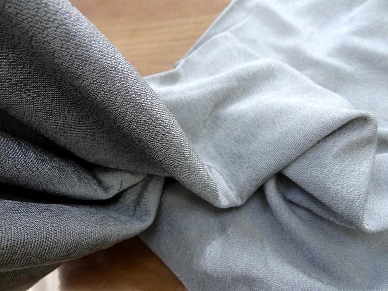 Jersey tubulaire gris argent fin 2