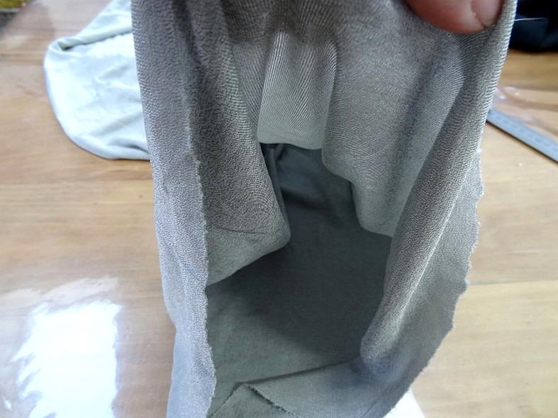 Jersey tubulaire gris argent fin 3