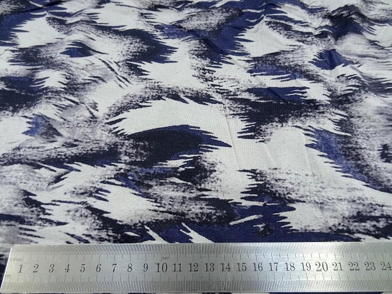 Jersey viscose lycra abstrait bleu outremer noir gris 1