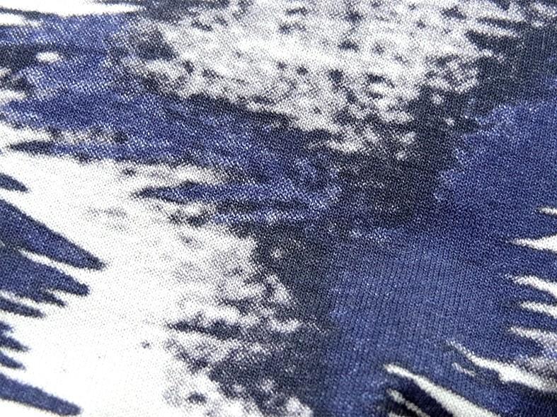 Jersey viscose lycra abstrait bleu outremer noir gris 2