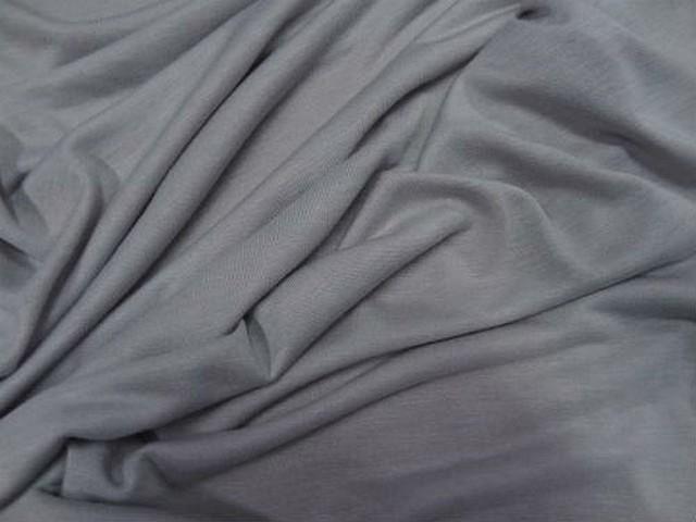 Jersey viscose lycra teinte gris perle 1