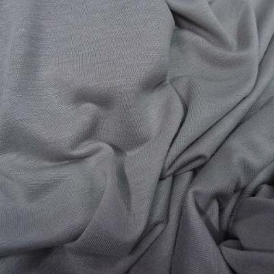 Jersey viscose lycra teinte gris perle 2