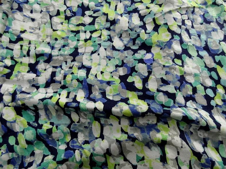 Jersey viscose lycra vert anis turquoise et marine 4