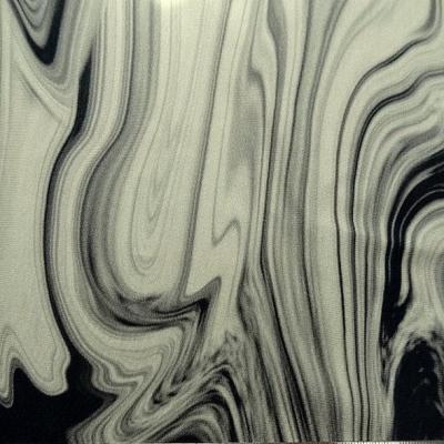 Jersey viscose motif noir blanc casse tie and dye 4 1