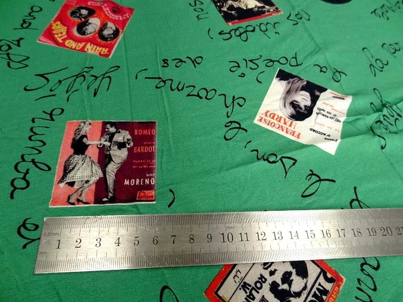 Jersey viscose motif pochettes vinyle annees 50 4