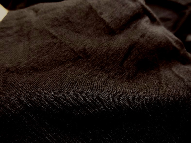 Jersey viscose noir uni 1