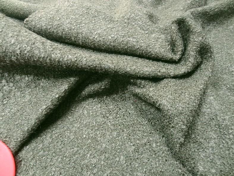 tissu lainage bouclettes kaki pas cher