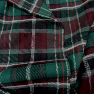 Lainage ecossais prune vert 1
