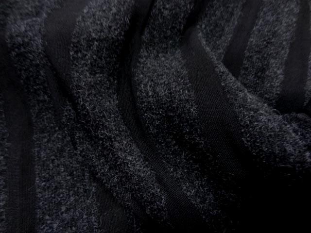 Lainage gris chine raye noir 1