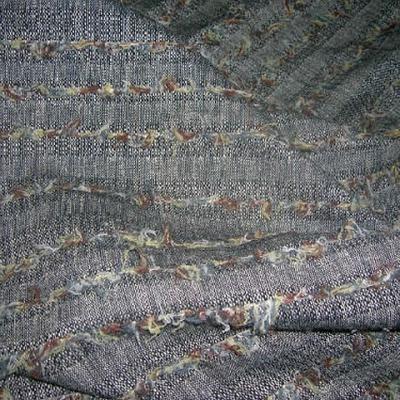 Lainage gris chine rayures fils de laine 1