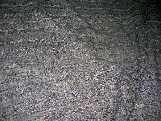 Lainage gris chine rayures fils de laine 2