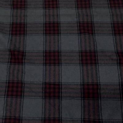 Lainage gris tartan carreaux rouge bordeaux 3