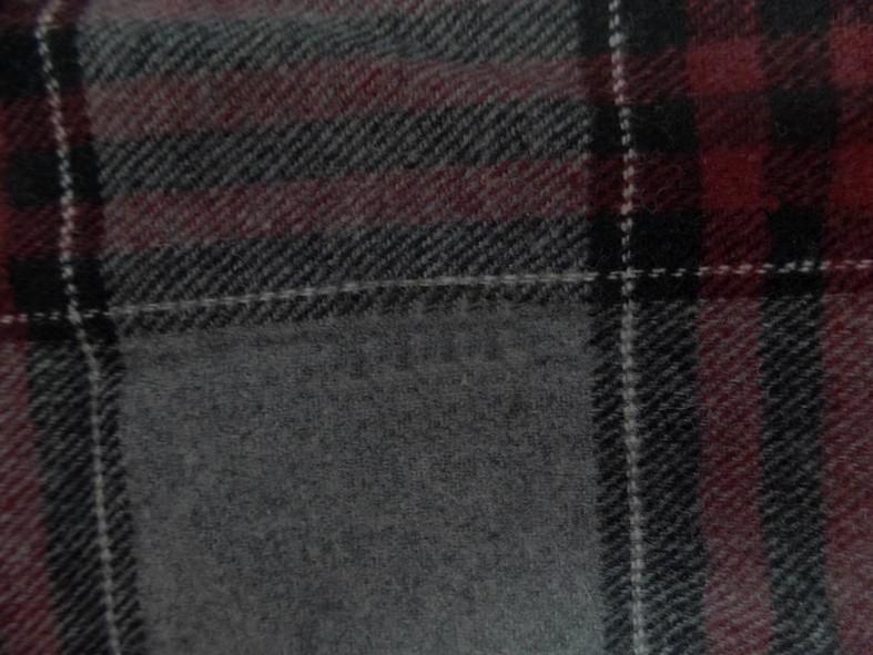 Lainage gris tartan carreaux rouge bordeaux 4