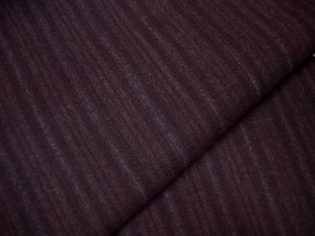 Lainage lycra raye bordeaux lie de vin 2