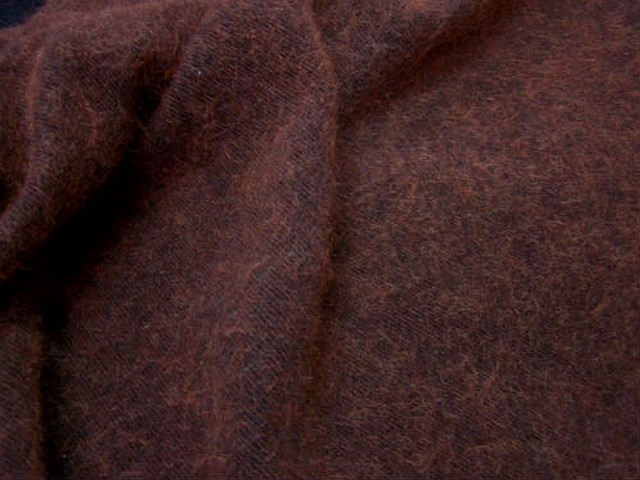 Lainage marron rouille texture angora 1