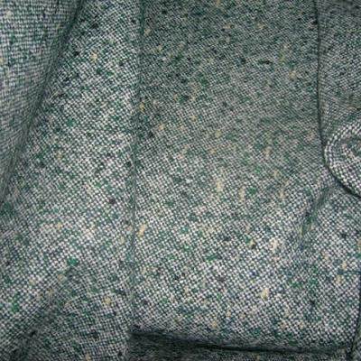 Lainage tweed gris vert chine 1