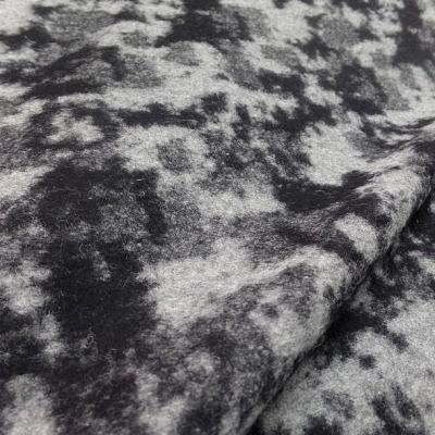 Laine bouillie noire marbree gris clair 3