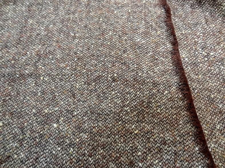 Laine tweed chine marron cuivre fil lurex 1