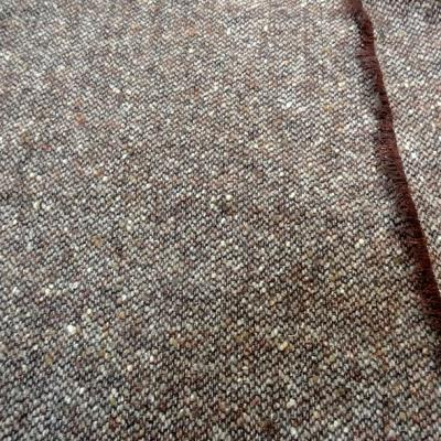 Laine tweed chine marron cuivre fil lurex 1