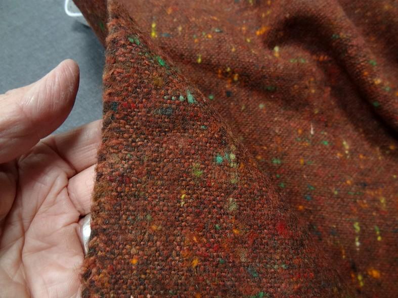 Laine tweed roux chine 4