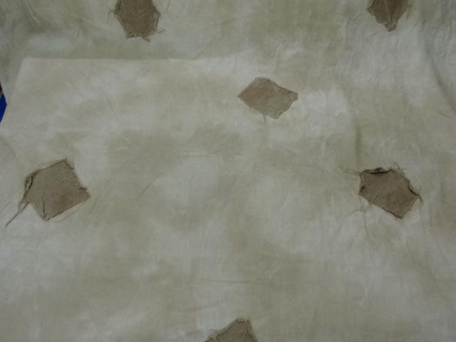 Lin beige marbre empiecements cousus 2