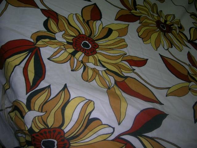Lin blanc casse fleurs de gazania jaune rouille 2