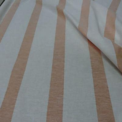 Lin blanc raye mandarine chambray 2