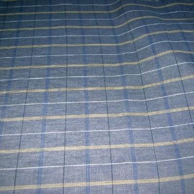 Lin chambray carreaux bleu2