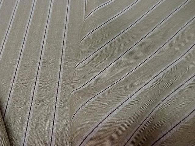 Lin coton beige faconne chevron raye 1