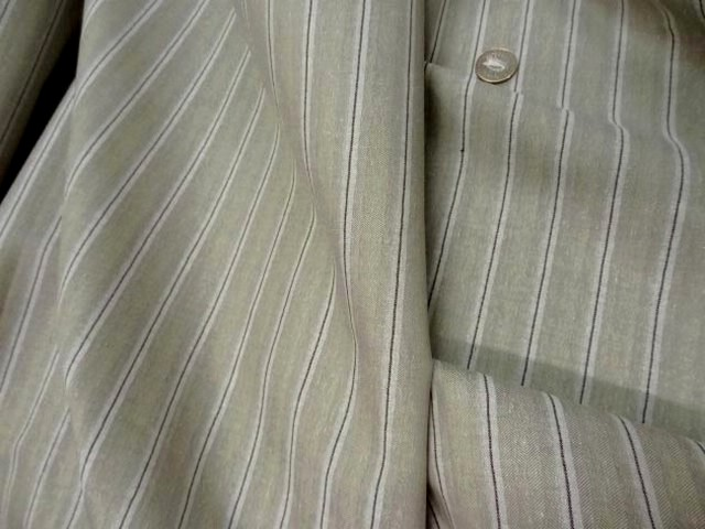 Lin coton beige faconne chevron raye 2