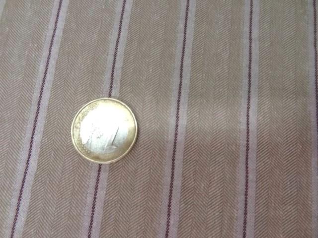 Lin coton beige faconne chevron raye 3