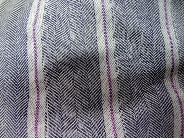 Lin coton gris faconne chevron raye0 1