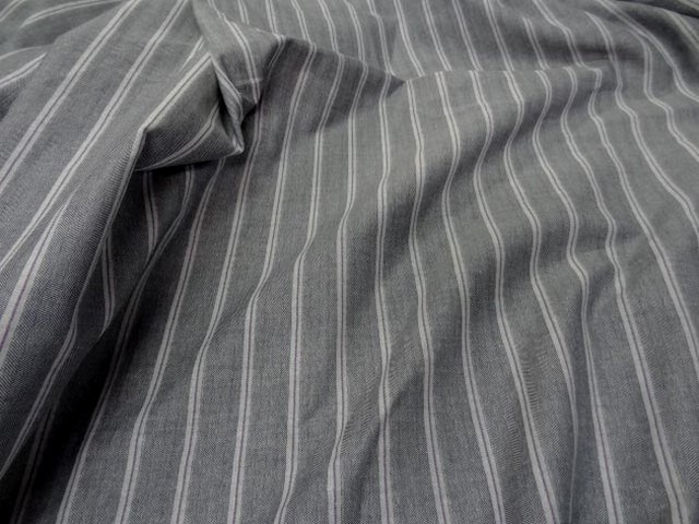 Lin coton gris faconne chevron raye0 2