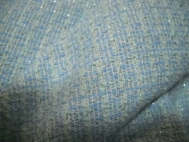 Lin faconne bleu blanc chanel 1