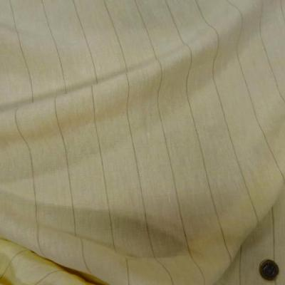 Lin jaune paille raye 1
