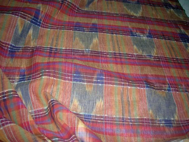 Lin madras teinte terre violet bleu rouge 1