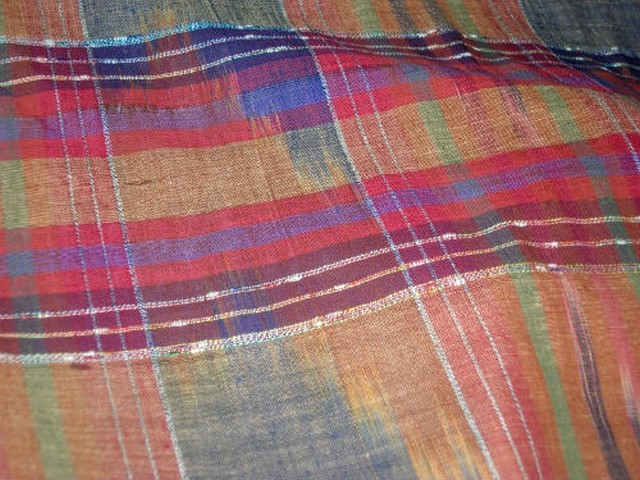 Lin madras teinte terre violet bleu rouge 2