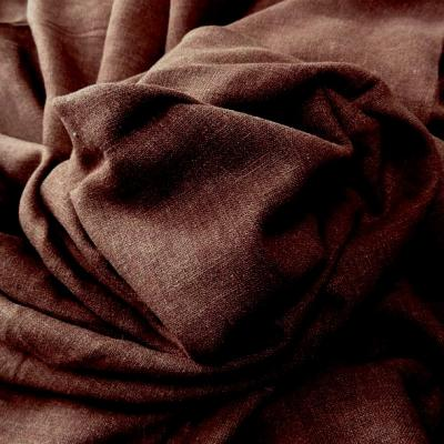 Lin viscose marron chine 1