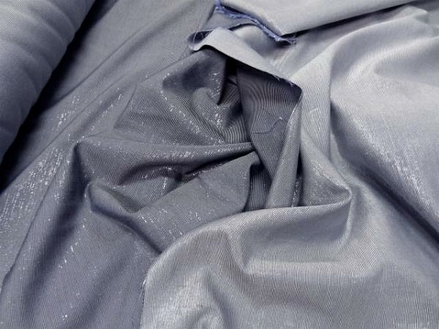 Lurex gris bleu double face