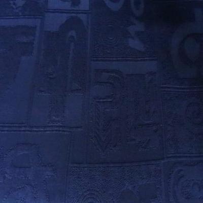 Lycra bisou bisou bleu nuit motif symboles 2