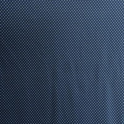 Lycra bleu denim a petits pois blancs 1