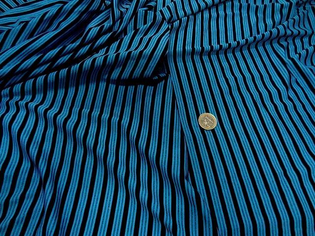 Lycra bleu rayures et lignes 1