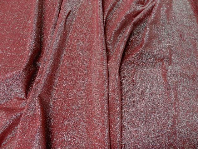 Lycra brique fils lurex or pale 1