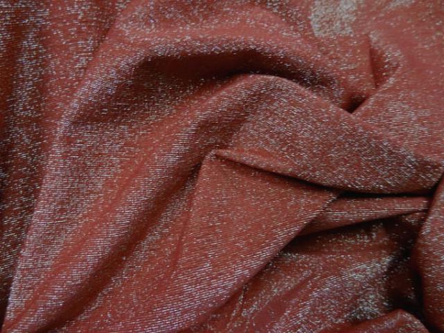 Lycra brique fils lurex or pale 3
