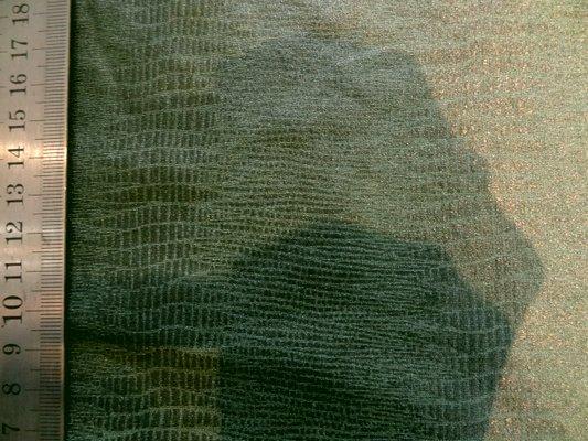 Lycra peau de serpent vert chrome 02