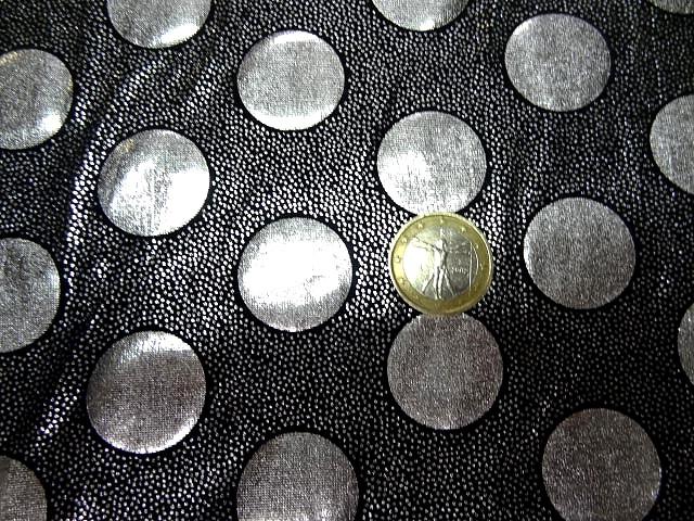 Lycra disco a pois argent