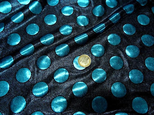 Lycra disco a pois bleu celeste 1