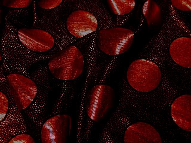 Lycra disco a pois rouge 3