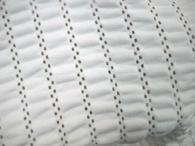 Lycra epais faconne dentelle froncee blanc 3