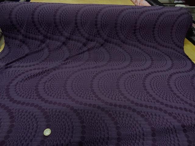 Lycra faconne art deco teinte violet zinzolin 1